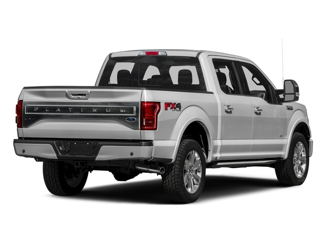 Ingot Silver Metallic 2016 Ford F-150 Pictures F-150 Crew Cab Platinum 2WD photos rear view