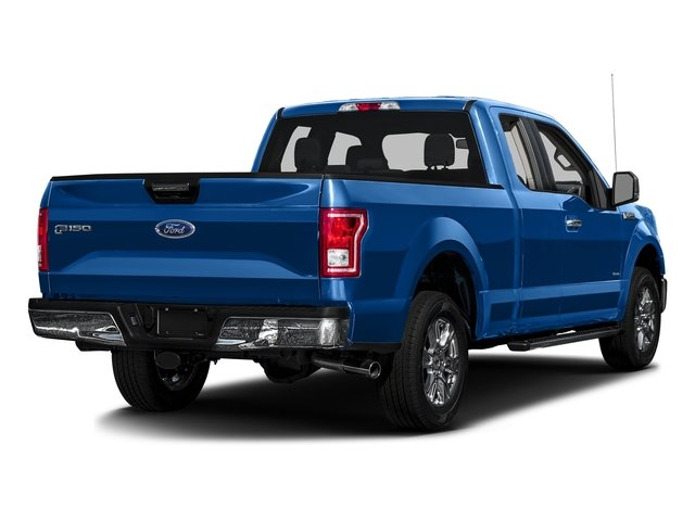 Blue Flame Metallic 2016 Ford F-150 Pictures F-150 Supercab XLT 2WD photos rear view