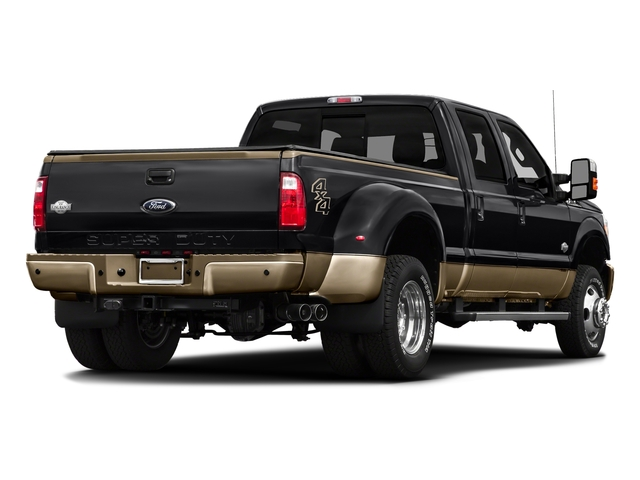 Shadow Black 2016 Ford Super Duty F-450 DRW Pictures Super Duty F-450 DRW Crew Cab King Ranch 4WD T-Diesel photos rear view