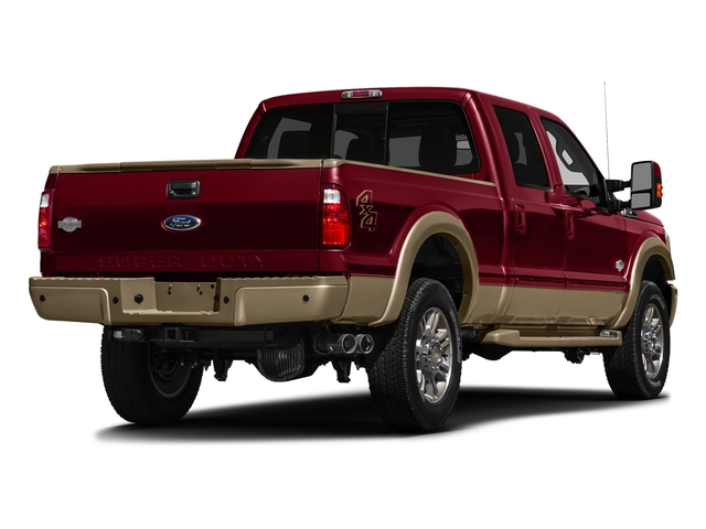 Ruby Red Metallic Tinted Clearcoat 2016 Ford Super Duty F-250 SRW Pictures Super Duty F-250 SRW Crew Cab King Ranch 2WD photos rear view