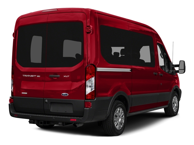 Race Red 2016 Ford Transit Wagon Pictures Transit Wagon Passenger Van XLT Medium Roof photos rear view