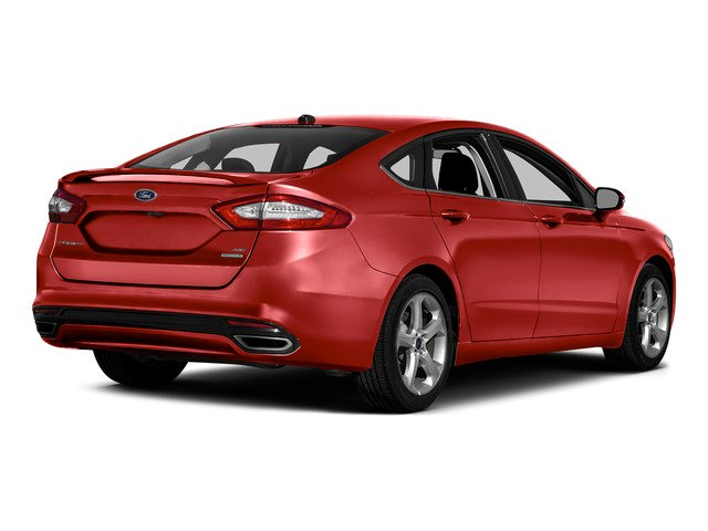 Ruby Red Metallic Tinted Clearcoat 2016 Ford Fusion Pictures Fusion Sedan 4D SE EcoBoost 2.0L I4 photos rear view