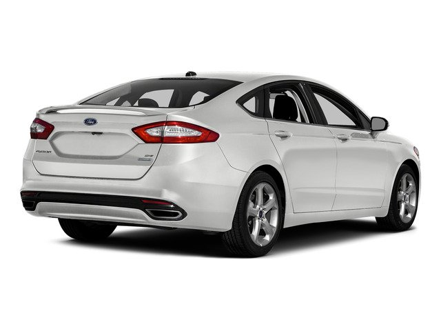 White Platinum Metallic Tri-Coat 2016 Ford Fusion Pictures Fusion Sedan 4D SE EcoBoost 2.0L I4 photos rear view