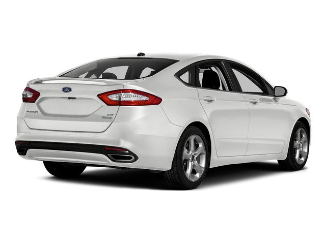 Oxford White 2016 Ford Fusion Pictures Fusion Sedan 4D SE EcoBoost 2.0L I4 photos rear view