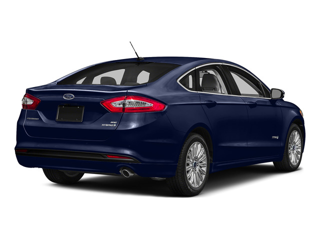 Deep Impact Blue 2016 Ford Fusion Pictures Fusion Sedan 4D S I4 Hybrid photos rear view
