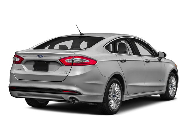 Ingot Silver 2016 Ford Fusion Pictures Fusion Sedan 4D S I4 Hybrid photos rear view