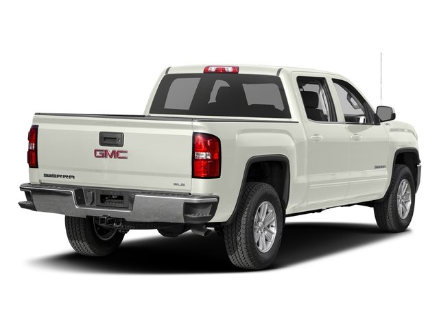 White Frost Tricoat 2016 GMC Sierra 1500 Pictures Sierra 1500 Crew Cab SLE 2WD photos rear view