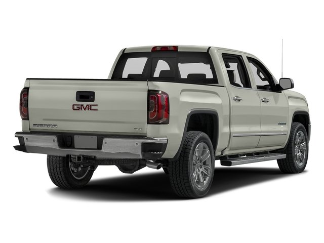 White Frost Tricoat 2016 GMC Sierra 1500 Pictures Sierra 1500 Crew Cab SLT 2WD photos rear view