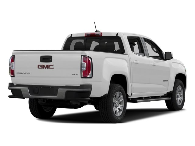 Summit White 2016 GMC Canyon Pictures Canyon Crew Cab SLE 4WD T-Diesel photos rear view