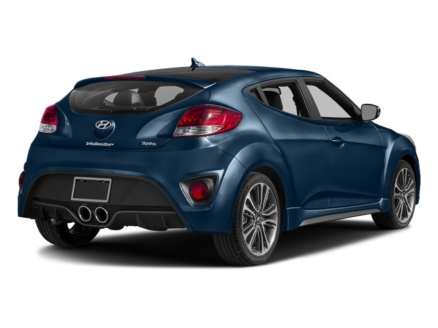 Pacific Blue 2016 Hyundai Veloster Pictures Veloster Coupe 3D I4 Turbo photos rear view