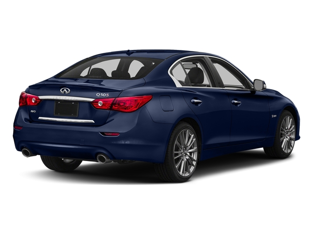 Iridium Blue 2016 INFINITI Q50 Pictures Q50 Sedan 4D 3.0T Red Sport AWD V6 Turbo photos rear view