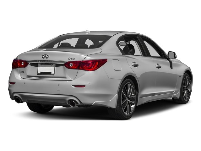 Liquid Platinum 2016 INFINITI Q50 Pictures Q50 Sedan 4D AWD V6 Hybrid photos rear view