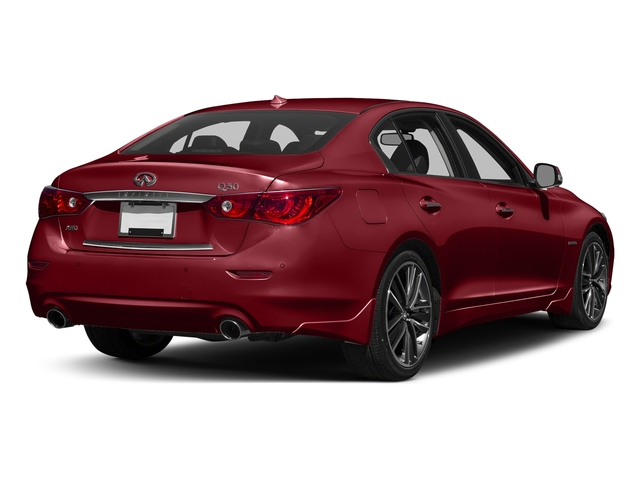 Venetian Ruby 2016 INFINITI Q50 Pictures Q50 Sedan 4D AWD V6 Hybrid photos rear view