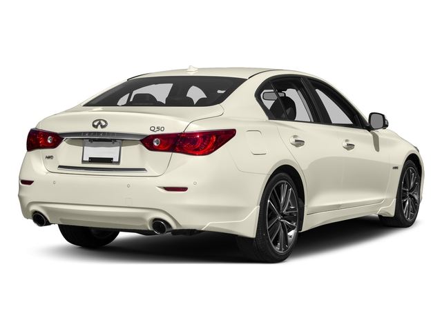 Majestic White 2016 INFINITI Q50 Pictures Q50 Sedan 4D AWD V6 Hybrid photos rear view