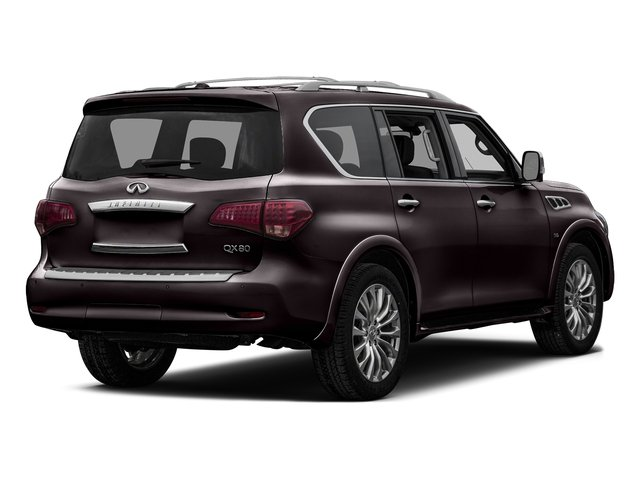Dark Currant 2016 INFINITI QX80 Pictures QX80 Utility 4D Signature AWD V8 photos rear view