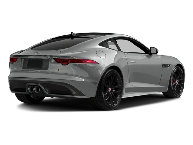 Rhodium Silver Metallic 2016 Jaguar F-TYPE Pictures F-TYPE Coupe 2D S AWD V6 photos rear view