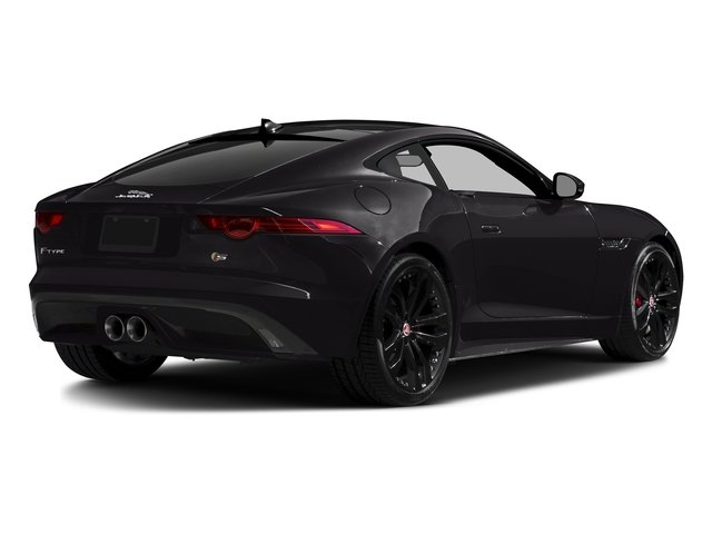 Ultimate Black Metallic 2016 Jaguar F-TYPE Pictures F-TYPE Coupe 2D S AWD V6 photos rear view