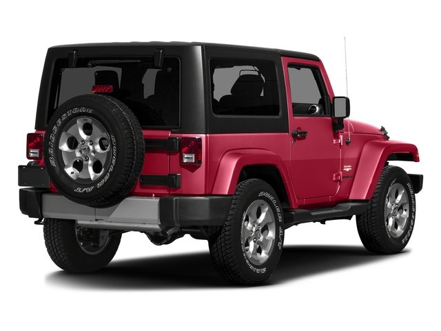 Firecracker Red Clearcoat 2016 Jeep Wrangler Pictures Wrangler Utility 2D Sahara 4WD V6 photos rear view