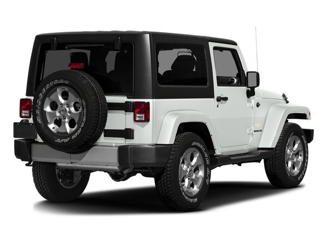 Bright White Clearcoat 2016 Jeep Wrangler Pictures Wrangler Utility 2D Sahara 4WD V6 photos rear view