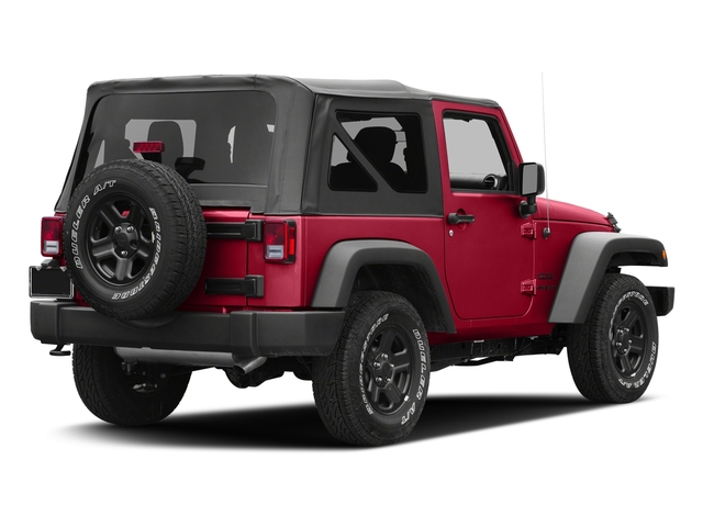 Firecracker Red Clearcoat 2016 Jeep Wrangler Pictures Wrangler Utility 2D Sport 4WD V6 photos rear view