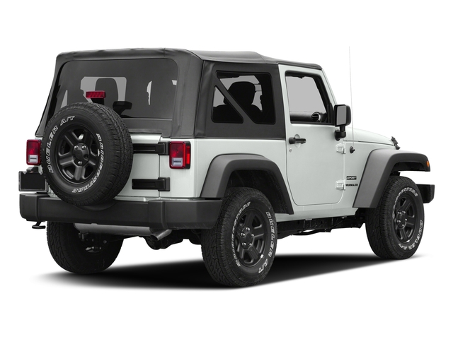 Bright White Clearcoat 2016 Jeep Wrangler Pictures Wrangler Utility 2D Sport 4WD V6 photos rear view