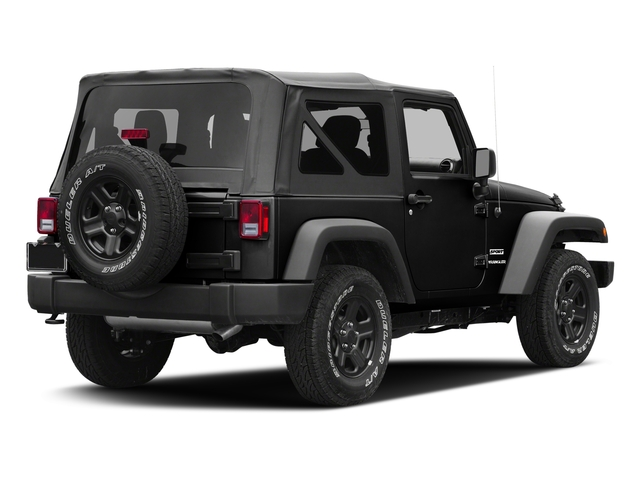 Black Clearcoat 2016 Jeep Wrangler Pictures Wrangler Utility 2D Sport 4WD V6 photos rear view