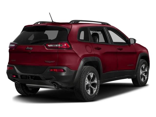 Deep Cherry Red Crystal Pearlcoat 2016 Jeep Cherokee Pictures Cherokee Utility 4D Trailhawk 4WD photos rear view