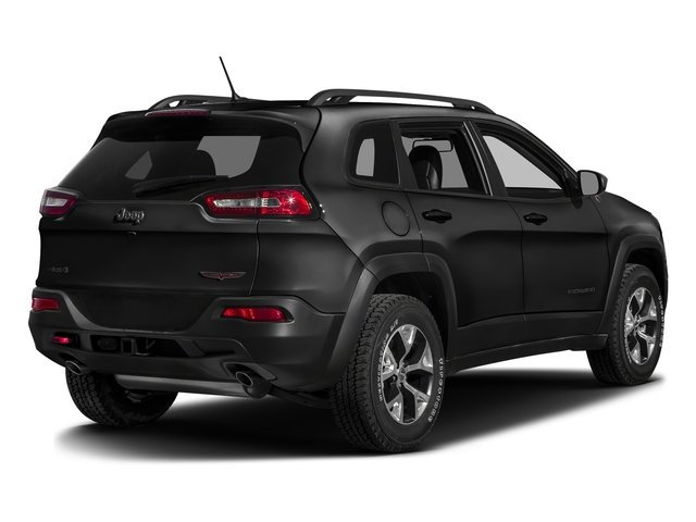 Brilliant Black Crystal Pearlcoat 2016 Jeep Cherokee Pictures Cherokee Utility 4D Trailhawk 4WD photos rear view
