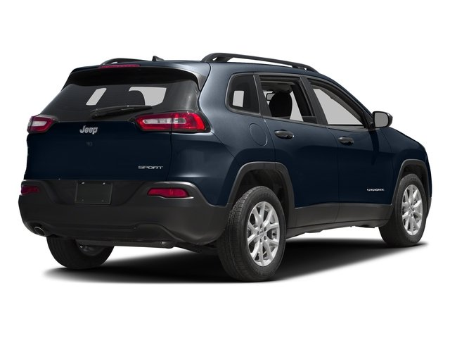 True Blue Pearlcoat 2016 Jeep Cherokee Pictures Cherokee Utility 4D Sport 2WD V6 photos rear view