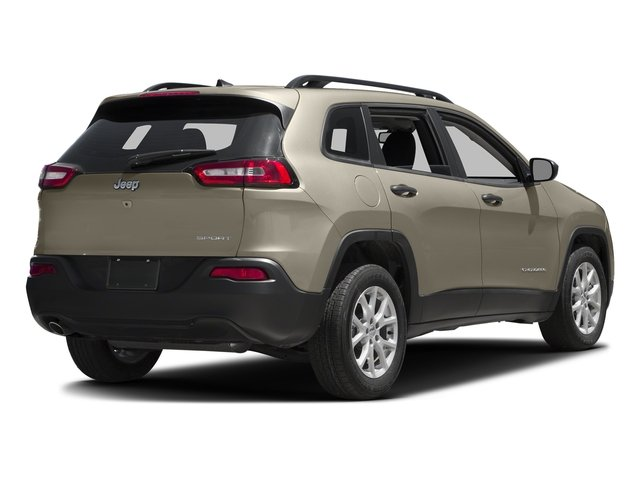 Light Brownstone Pearlcoat 2016 Jeep Cherokee Pictures Cherokee Utility 4D Sport 4WD V6 photos rear view
