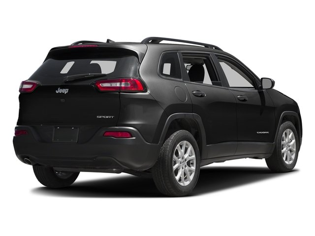 Brilliant Black Crystal Pearlcoat 2016 Jeep Cherokee Pictures Cherokee Utility 4D Sport 2WD V6 photos rear view