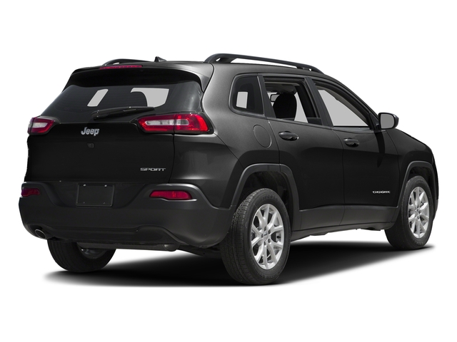 Brilliant Black Crystal Pearlcoat 2016 Jeep Cherokee Pictures Cherokee Utility 4D Sport 4WD V6 photos rear view