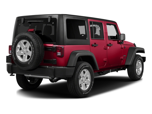 Firecracker Red Clearcoat 2016 Jeep Wrangler Unlimited Pictures Wrangler Unlimited Utility 4D Unlimited Sport 4WD V6 photos rear view