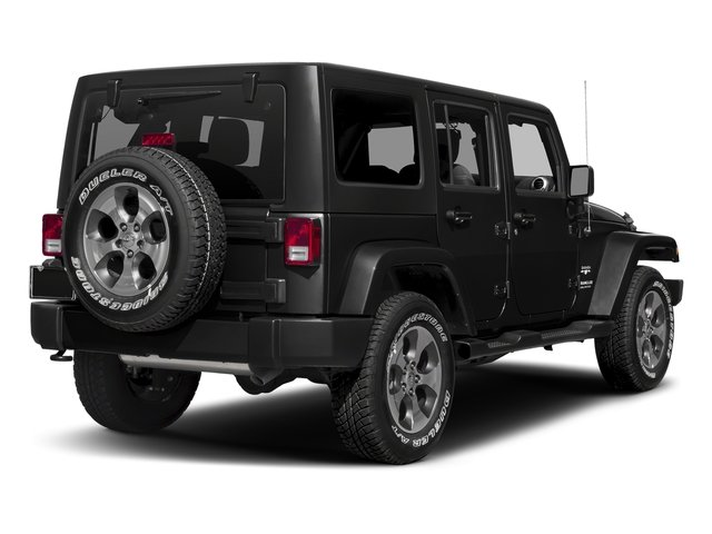 Black Clearcoat 2016 Jeep Wrangler Unlimited Pictures Wrangler Unlimited Utility 4D Unlimited Sahara 4WD V6 photos rear view