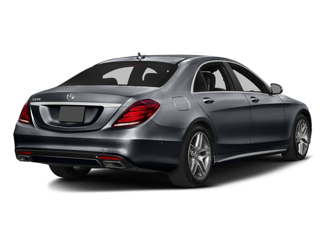 Anthracite Blue Metallic 2016 Mercedes-Benz S-Class Pictures S-Class Sedan 4D S550 AWD V8 Turbo photos rear view