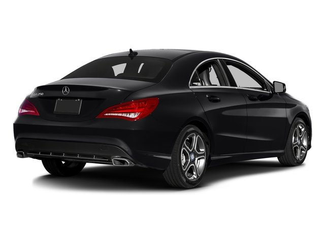 Night Black 2016 Mercedes-Benz CLA Pictures CLA Sedan 4D CLA250 AWD I4 Turbo photos rear view
