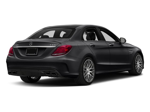 Black 2016 Mercedes-Benz C-Class Pictures C-Class Sedan 4D C63 AMG V8 Turbo photos rear view