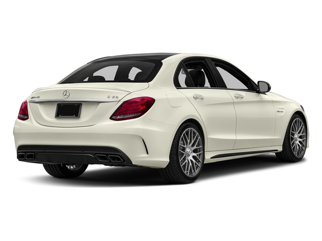 Polar White 2016 Mercedes-Benz C-Class Pictures C-Class Sedan 4D C63 AMG V8 Turbo photos rear view