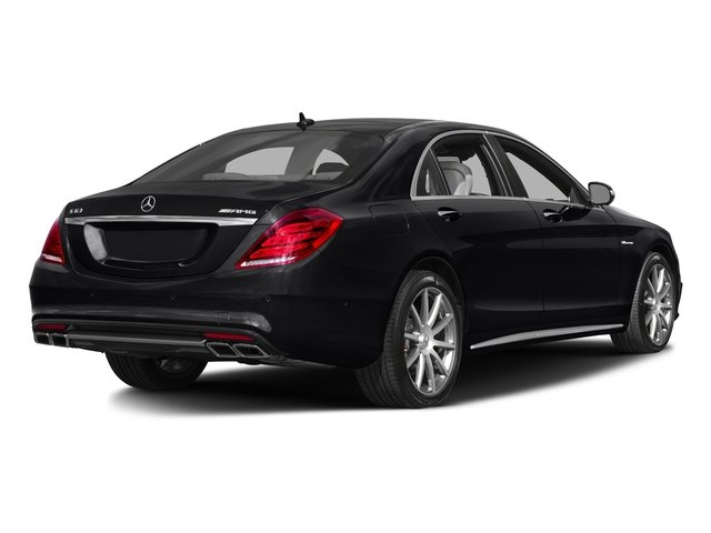 Black 2016 Mercedes-Benz S-Class Pictures S-Class Sedan 4D S63 AMG AWD V8 Turbo photos rear view