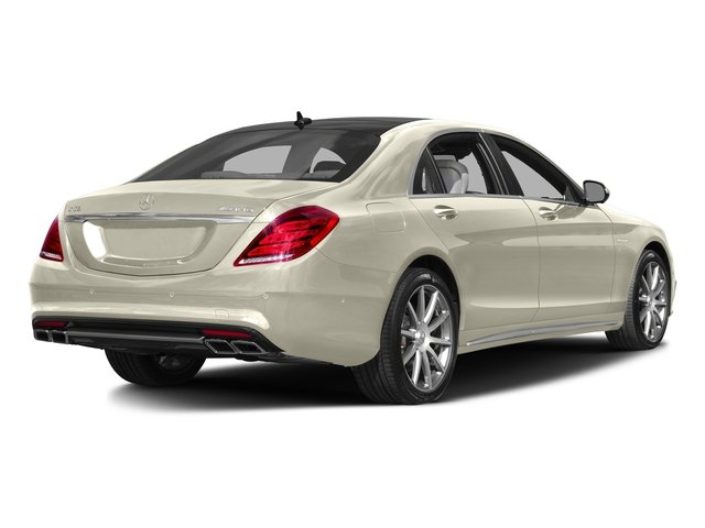 designo Diamond White 2016 Mercedes-Benz S-Class Pictures S-Class Sedan 4D S63 AMG AWD V8 Turbo photos rear view