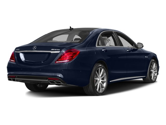 Lunar Blue Metallic 2016 Mercedes-Benz S-Class Pictures S-Class Sedan 4D S63 AMG AWD V8 Turbo photos rear view