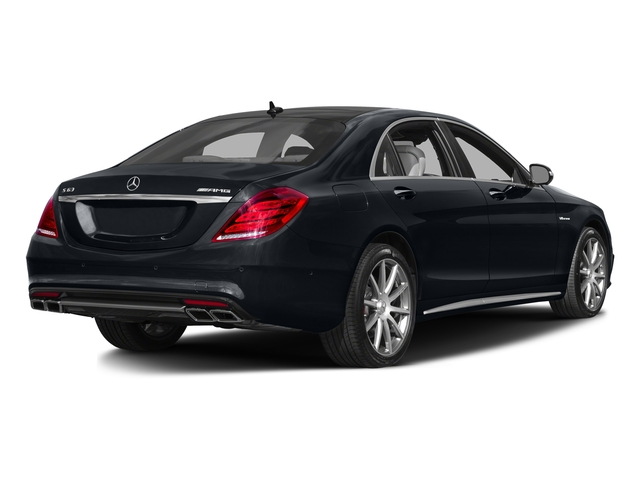 Anthracite Blue Metallic 2016 Mercedes-Benz S-Class Pictures S-Class Sedan 4D S63 AMG AWD V8 Turbo photos rear view