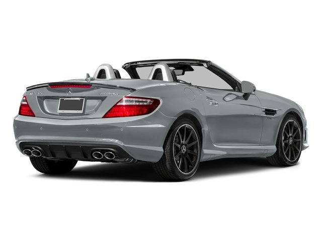 Diamond Silver Metallic 2016 Mercedes-Benz SLK Pictures SLK Roadster 2D SLK55 AMG V8 photos rear view
