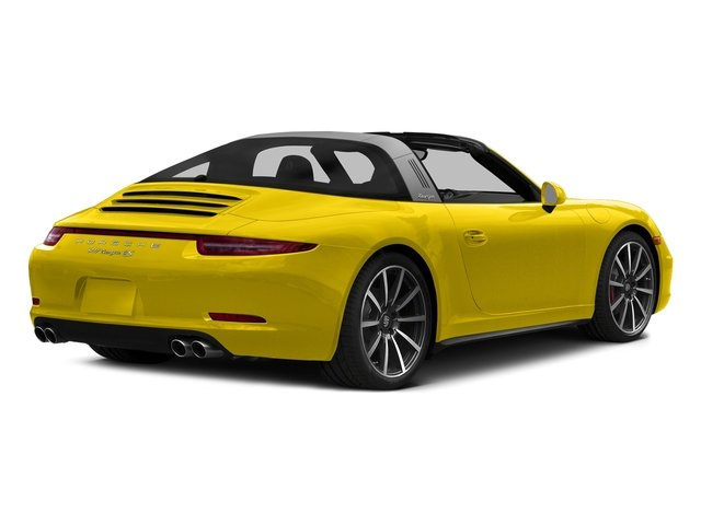 Racing Yellow 2016 Porsche 911 Pictures 911 Coupe 2D 4S Targa AWD photos rear view