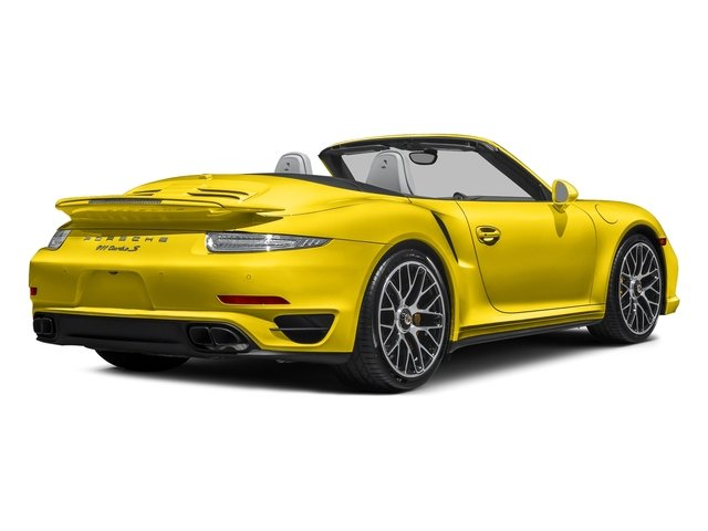 Racing Yellow 2016 Porsche 911 Pictures 911 Cabriolet 2D S AWD H6 Turbo photos rear view