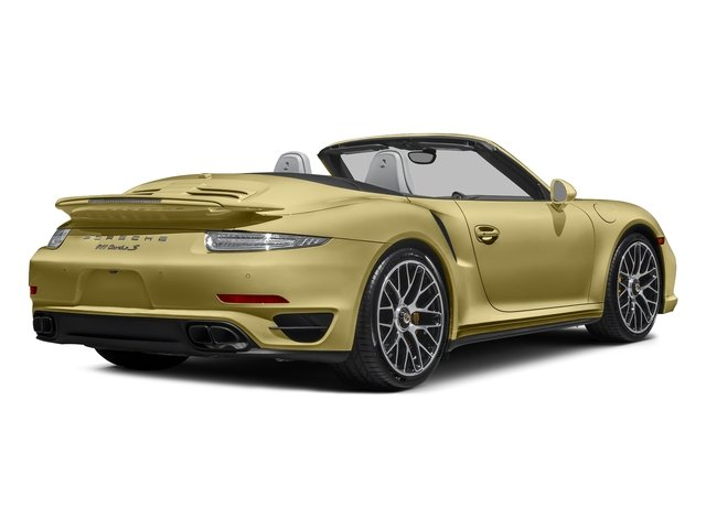 Lime Gold Metallic 2016 Porsche 911 Pictures 911 Cabriolet 2D AWD H6 Turbo photos rear view