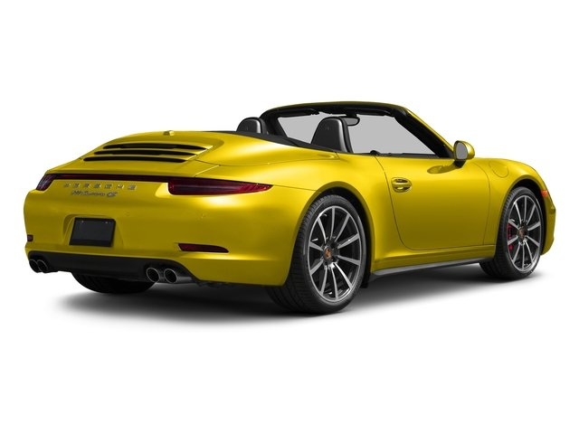 Racing Yellow 2016 Porsche 911 Pictures 911 Cabriolet 2D 4S AWD H6 photos rear view