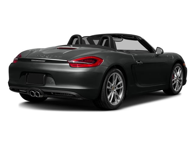 Jet Black Metallic 2016 Porsche Boxster Pictures Boxster Roadster 2D GTS H6 photos rear view