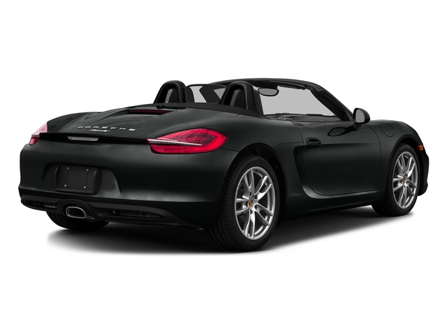 Jet Black Metallic 2016 Porsche Boxster Pictures Boxster Roadster 2D H6 photos rear view