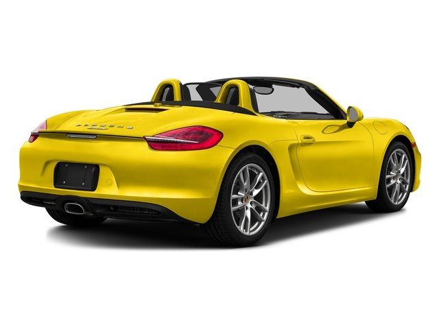 Racing Yellow 2016 Porsche Boxster Pictures Boxster Roadster 2D H6 photos rear view